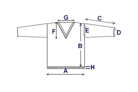 pull droit col V