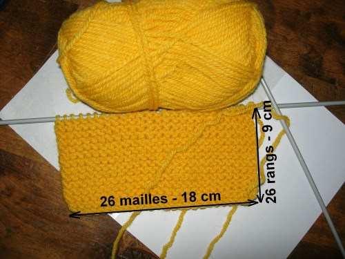 echantillon tricot